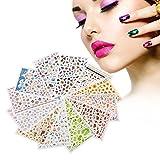 Adesivi per unghie per donne ragazza 12 fogli diversi Pattern Nail Art Manicure Decoration Stencil Accessori di bellezza