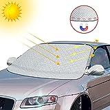 Protector para Parabrisas , otumixx Protector de Parabrisas Magnético Cubierta de Parabrisas para Coche Protege de Hielo, Nieve Viento y Lluvia, Funda Plegable Parabrisa Delantero Universal, 189x120cm
