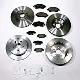 Autoparts-Online Set 60008323 Bremsscheiben 16 Zoll/Bremsen + Bremsbeläge Vorne + Hinten