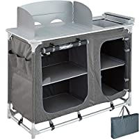 TecTake 800585 - Camping Kitchen Aluminium, Easy to assemble, Lightweight - different Models (Type 2 | No. 402920)