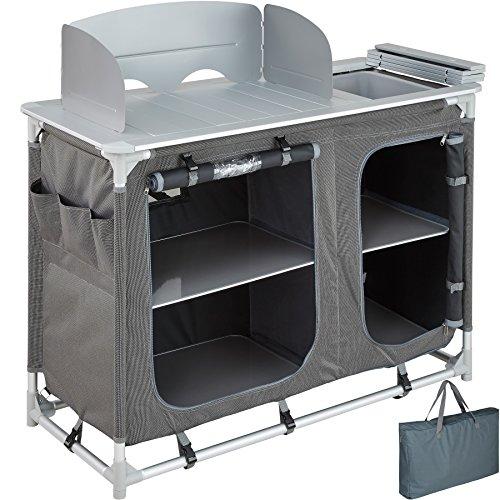 TecTake 800585 - Cucina da Campeggio Alluminio, Facile Montaggio, Minimo Peso - Modelli Differenti (Tipo 2 | No. 402920)