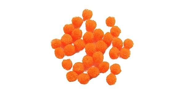 Cyan 10mm Aqua PandaHall Lot de 50/pi/èces Pompon Balle Ronde Perles laines