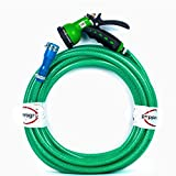 #3: Pepper Agro Garden Watering Car Wash 8 Mode/Pattern Spray Gun with Braided Hose Pipe 1/2