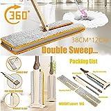mamum Nützliche doppelseitigem Flachwischer Freisprecheinrichtung waschbar Mop Home Reinigung Werkzeug Lazy