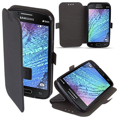 """BOOK CASE 3 für Apple iPhone 7 Plus 5.5""""Cover Handy Tasche Flipcase Etui FLEXI Buchform Kunststoff TPU Halterung für Kreditkarten (pink) schwarz"""