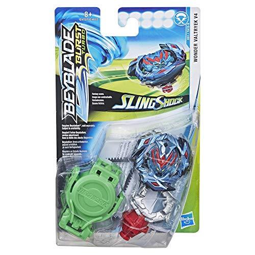 Beyblade Burst Turbo - Starter Pack Toupie et Lanceur Slingshock - Wonder Valtryek V4