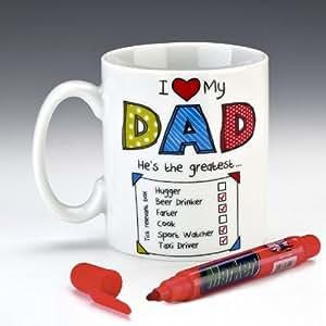 tasse becher mit englischer aufschrift i love my dad und. Black Bedroom Furniture Sets. Home Design Ideas