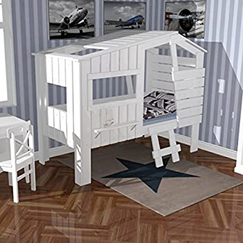 vicco kinderbett kinderhaus kinder bett holz haus schlafen spielbett hausbett 90x200cm. Black Bedroom Furniture Sets. Home Design Ideas