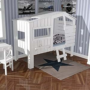 Lounge zone h hlenbett baumhausbett kinderbett bett for Kinderzimmer vollholz