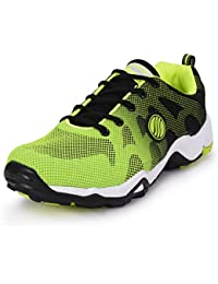 Action Shoes Black-Green Sports Shoes
