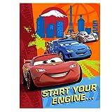 Disney Cars 8 Stk Einladungskarten mit Kuvert - Geburtstagseinladung'start your engine'.