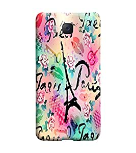 Gismo Samsung Galaxy J5-6 (2016 Edition) Cover / Samsung Galaxy J5 2016 Edition Back Cover / Samsung j5 2016 Edition Designer Printed Back Case - Art Eiffel Tower Theme girl girly