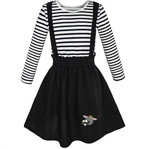 KL76 Sunny Fashion Vestido para niña 2 Piezas Set camiseta Liga Falda Colegio Uniforme 10 años