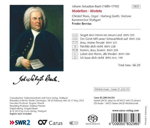 Bach : Motets. Bernius