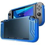 Étui pour Nintendo Switch de Mumba [Série SlimFit] Coque de protection hybride de qualité supérieuse pour Nintendo commutateur édition 2017, Bleu