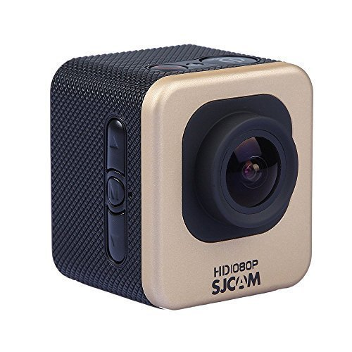 SJCAM multifunzione M10 WIFI (SJ4000 WiFi Mini edizione) 1080P impermeabile Digital Video registratore DVR della videocamera, macchina fotografica di sport di azione, 12 Megapixel, 170 ° HD grandangolare, multi colori, con custodia impermeabile Monti multipli (Oro) + extra WINGONEER Batteria