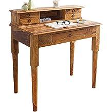 DuNord Design Secreter Consola Key West 90cm Palisandro Madera Sheesham maciza natural escritorio