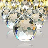 TOOL GADGET 30 mm Chandelier Crystal Ball Prisms Drops Wedding Decorations Crystal Beads For Ceiling Lights (9 pack)