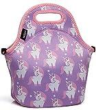 VASCHY Borsa Termica Unicorno per Bambini Borsa da Pranzo Isolata da Bambina Carina con Tracolla Staccabile