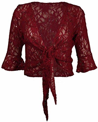 Janisramone - Boléro - Bolero Shrug - Femme * taille unique Bordeaux