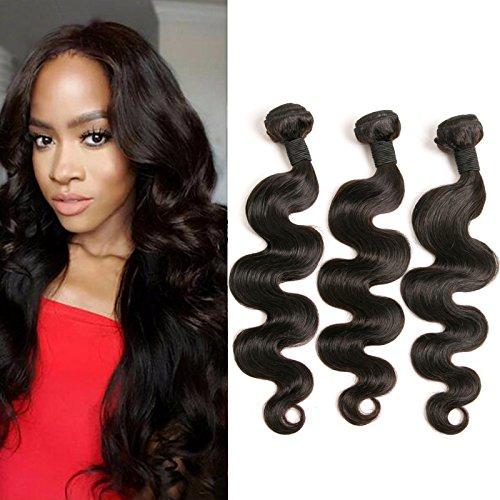 3 Bundles Brazilian Body Wave Human Hair Weave 24 26 28 Inch...