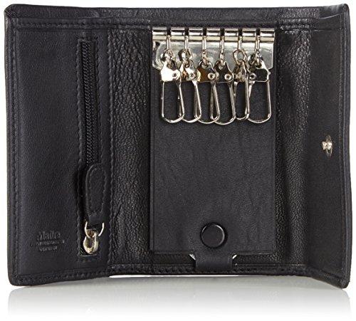 Maitre Herren Largo Sigurt F Schlüsselmäppchen, 11x7x1 cm Schwarz