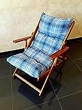 POLTRONA SEDIA SDRAIO HARMONY RELAX (BLU) in legno pieghevole cuscino imbottito soggiorno cucina giardino salone divano