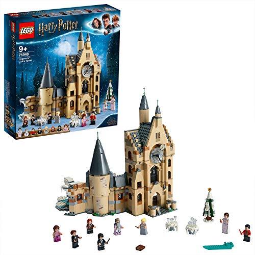LEGO Harry Potter Torre del Reloj de Hogwarts, Set de Construcción de la Escuela de Magia, Incluye Minifiguras de Harry, Dumbledore y Cedric, Novedad 2019 (75948)
