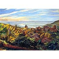 OdsanArt 16 x 11 cm, stile Art Nouveau, motivo: paesaggi di Heidelberg Castle