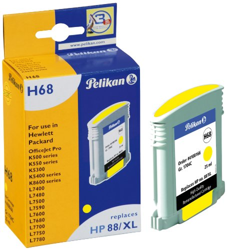Pelikan 4108166 - Cartucho de tinta HP OfficeJet Pro K5400-88 - 88XL - Amarillo