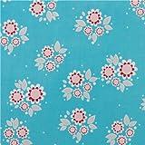 Tela laminada azul con flores de Riley Blake Twice as Nice