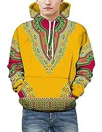 zarupeng Unisex sudadera con capucha africana con capucha Otoño Invierno sudadera con capucha africana 3D con