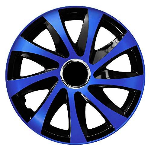 CM DESIGN Drift EXTRA Blau/Schwarz - 14 Zoll, passend für Fast alle VW z.B. für Polo 6N Blau 14