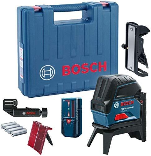 Bosch Professional Kreuzlinienlaser GCL 2-50 (5x AA Batterien, Arbeitsbereich: 50m, im Handwerkerkoffer)