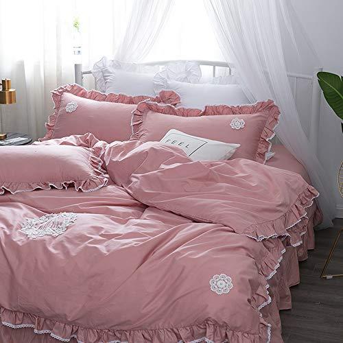 CZCYG Bettwäsche Set Prinzessin Königin King Size für Mädchen Bettwäsche Set Bett Set Bettbezug Schlafzimmer Set Kissenbezügex, 5, Queen Size 4 Stück -