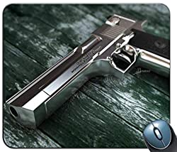 Desert Eagle Pattern Mouse Pad, Printed Non-slip Rubber Comfortable Customized Computer Mouse Pad Mouse Mat Mousepad
