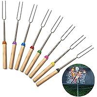 Enko telescopica torrefazione Sticks 32 Pollici allungabile Hot Dog Forks 8 pezzi in acciaio inox barbecue Forks Spiedini Grill Forks per esterni da campeggio parti