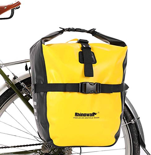 Selighting Bolsa Alforja Trasera para Bicicleta 20L, Grande Bolsa Bicicleta Multifunción Carretera MTB Bicicleta de Montaña (Amarillo-20L)