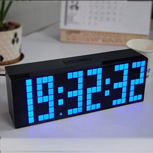 UMsky Wecker Digital Uhr , LED Elektronischer Wanduhr Timer Alarm Countdown Wecker Tischuhr -blau