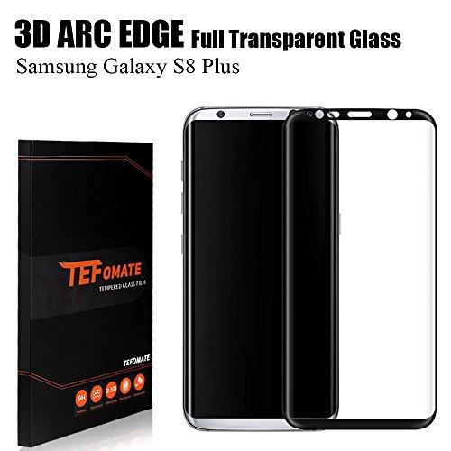 "Protector de Pantalla Samsung Galaxy S8 Plus, TEFOMATE Vidrio Templado Protector de Pantalla Completa Tempered Glass Screen Protector para Galaxy S8 Plus 6.2"" [Curvado 3D] - Negro"