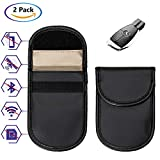 Wemk 2 Pack Car Key Signal Blocker Case Keyless Entry Fob Guard Faraday Bag Signal GSM Blocking Case Pouch (2 Pack)