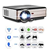 LCD HD Home/Outdoor WiFi Projector with Bluetooth Android 6.0 Support 1080P HDMI Wireless