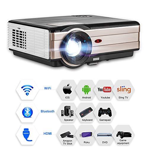 4000 lúmenes LCD LED HD Proyector inalámbrico para cine en casa  con Android Bluetooth WiFi proyector multimedia Soporta HDMI Full HD para la consola de juegos de la fiesta navideña casera