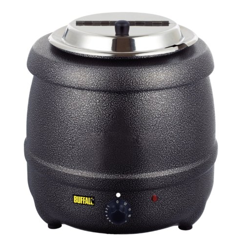 Buffalo Graphite Grey Soup Kettle 10L Commercial Electric Jug 375X330mm