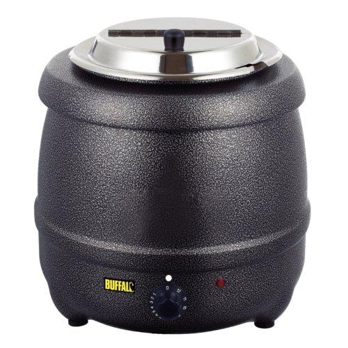 Buffalo Graphite Grey Soup Kettle 10Ltr/375X330mm Electric Jug Kitchen
