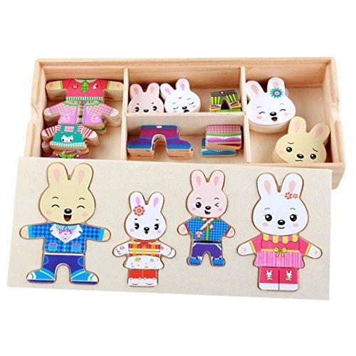 Queena Puzzle de madera para niños