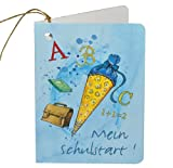 Unbekannt Namensschild / Geschenkanhänger / Schultütenanhänger Schulanfang - Anhänger für Schultüte Namensanhänger Schulstart blau