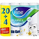 Fine Toilet Roll Fluffy Advanced 30% More Sheets - 24 roll