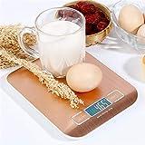 WLIXZ Digitale Küchenwaage, Multifunktions-Nahrungsmittelskala, £ / 5kg, Tara & Auto Off, LCD-Display,Rosegold,5kg