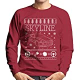 Cloud City 7 Nissan Skyline Christmas Knit Men's Sweatshirt